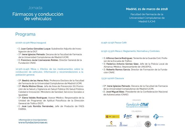 programa jornada farmacos conduccion